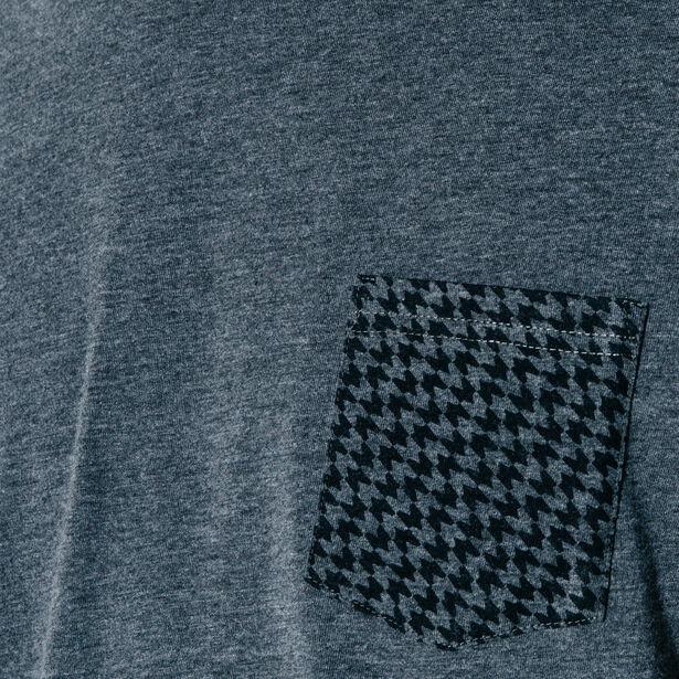 T-shirt poche imprimée pied de poule