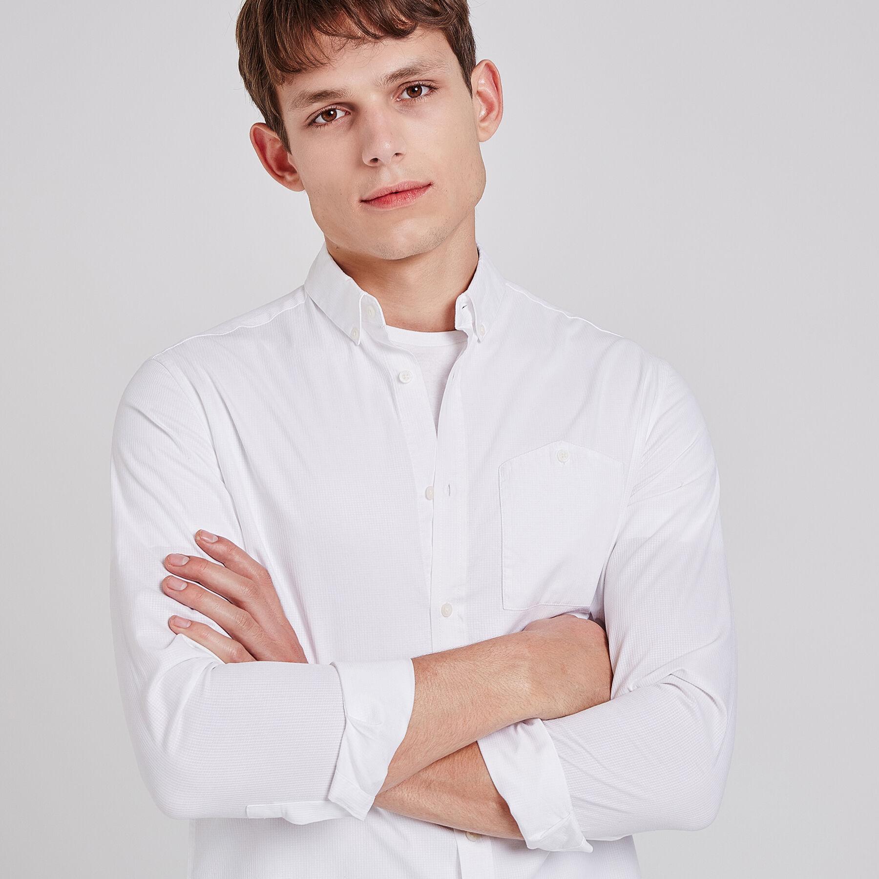 b9c6b791227 Geborduurd hemd, regular snit Wit Mannen - Jules