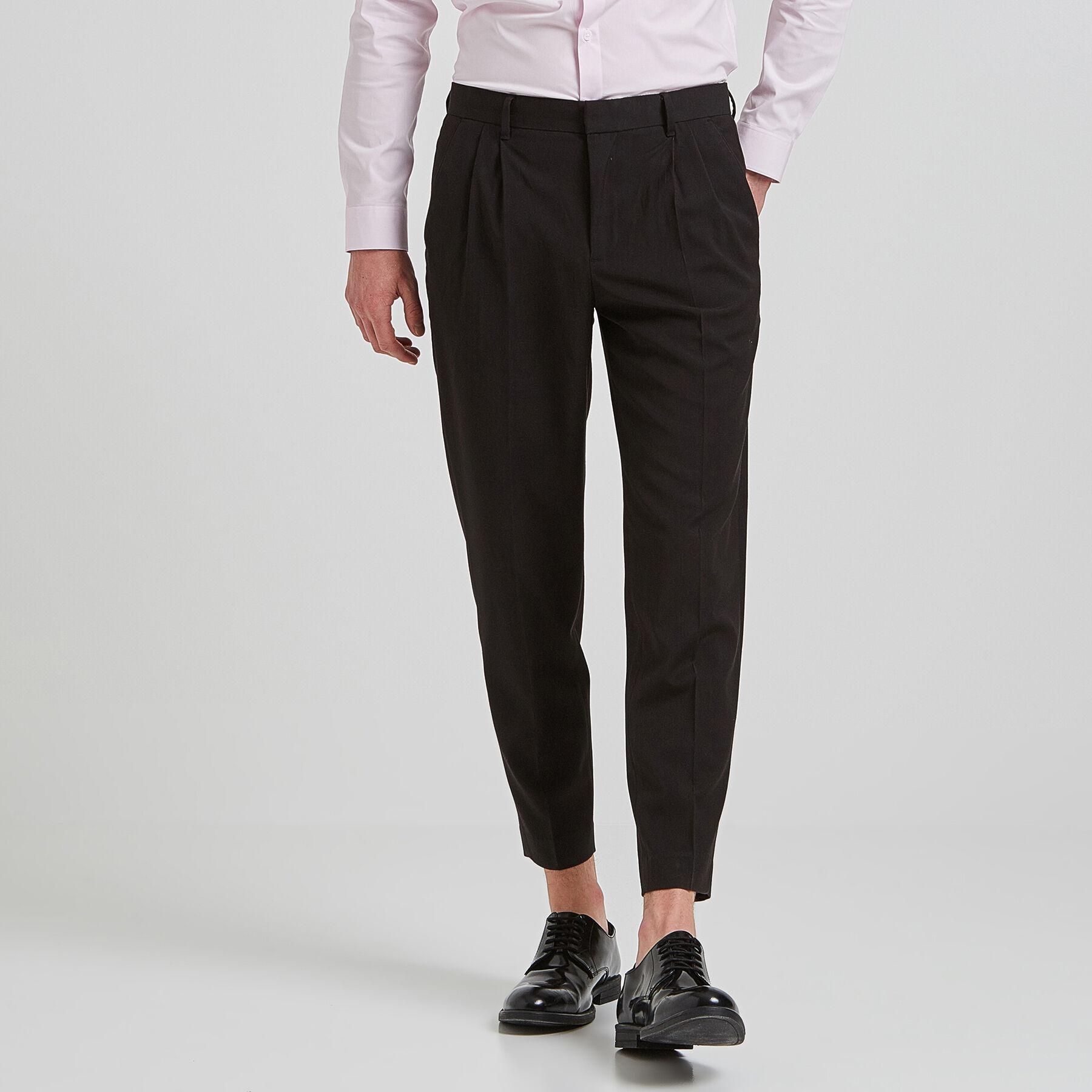 8b19cc3f441b2 Pantalon à pinces cropped Noir Homme - Jules
