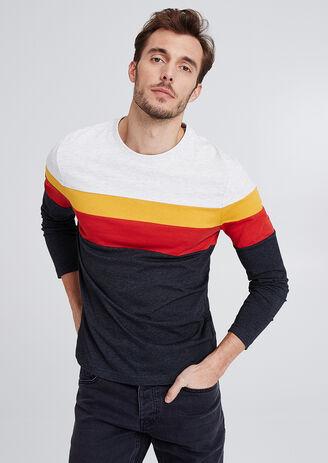 T-shirt met lange mouw, rainbow