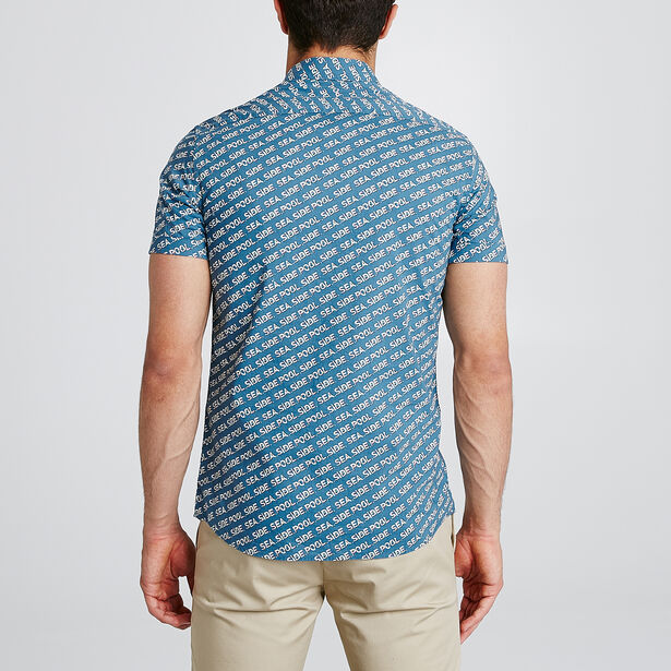 Slim hemdje met print