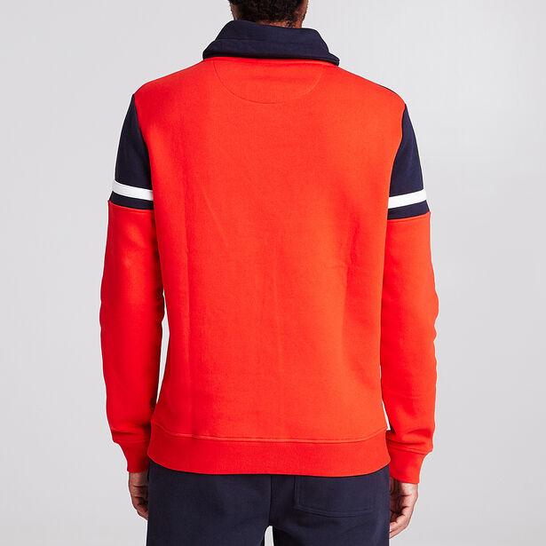 Colorblock sweater met snood-kraag