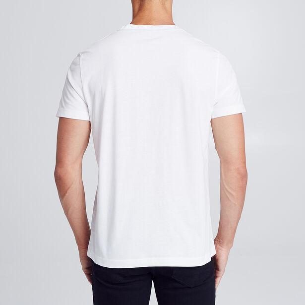 T-shirt met neon-print op de borst
