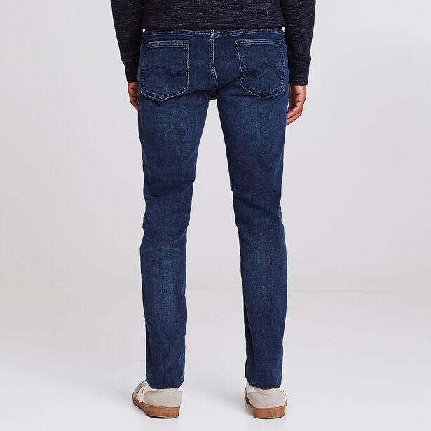 Jean skinny Max 4L bleu foncé lavé