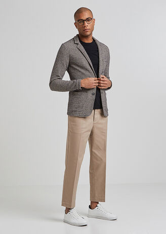 Tweekleurig vest in tricot