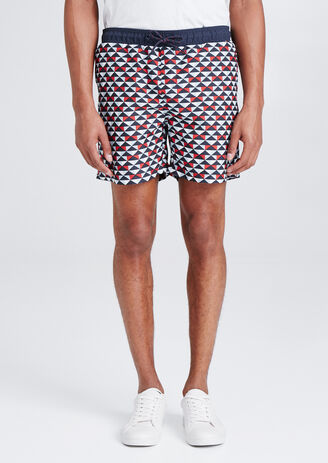 Maillot de bain homme motif géométrique