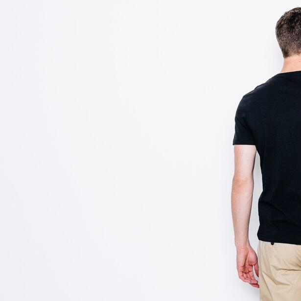 """T-shirt col V imprimé """"LA"""""""