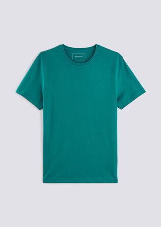 T-shirt collo rotondo tinta unita