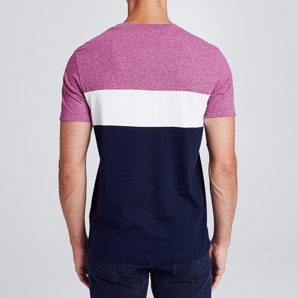 Colorblock T-shirt met borstzak