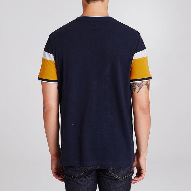 Colorblock T-shirt in piquéstof