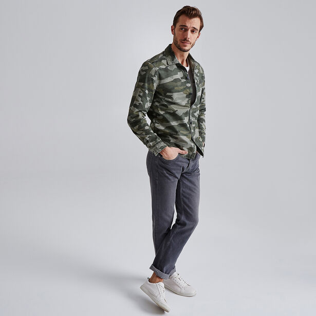 Jean Selvedge straight gris