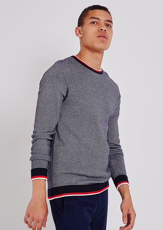 Pullover jacquard all over