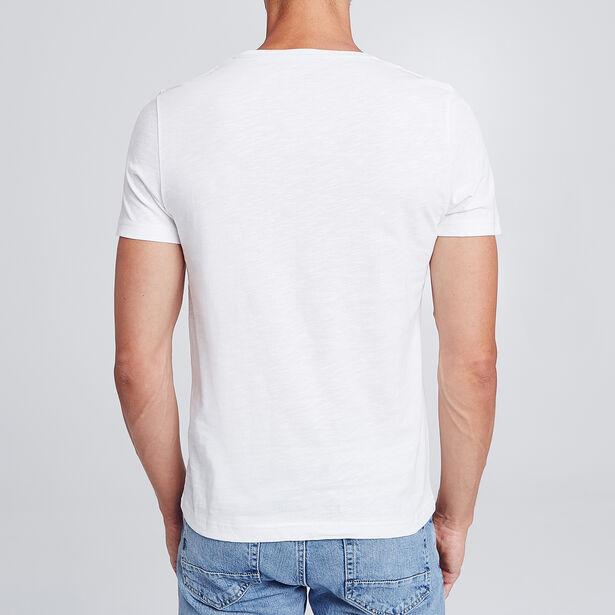 t-shirt print surfeur avec broderie