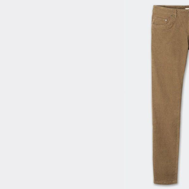 Pantalon 5 poches slim en velours