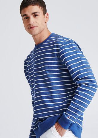 Sweater met ronde hals, marinestijl, Franse makeli