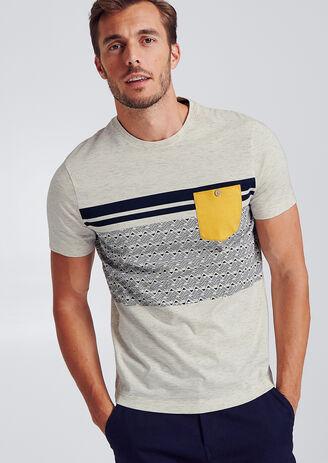 Colorblock T-shirt met zak