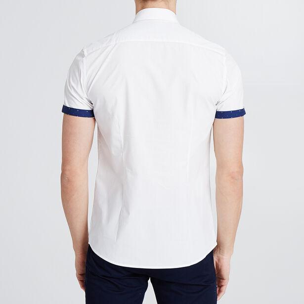 Slim hemd met korte mouw