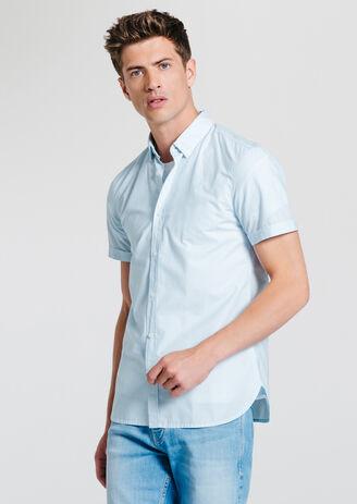 Chemise rayée manches courtes
