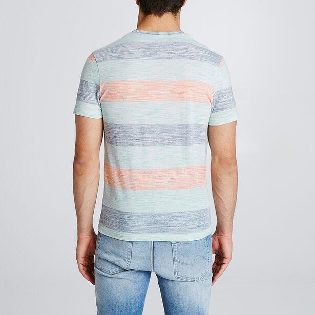 T-shirt met strepen en borduursel van palmboom op