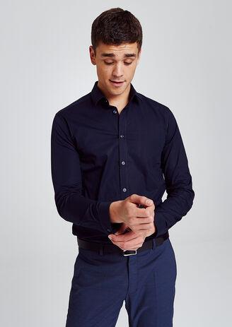 Slim effen hemd