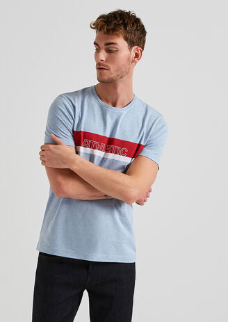Tee shirt message athletic