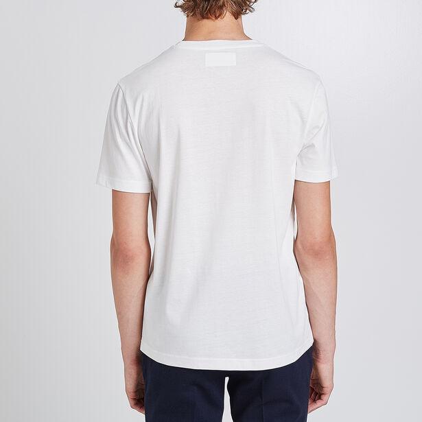 T-shirt collo rotondo con stampa modern hero