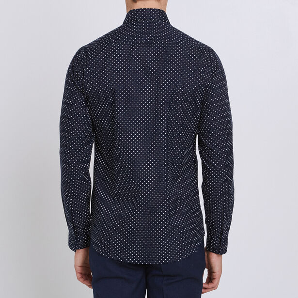 Regular hemd met print, makkelijk te strijken