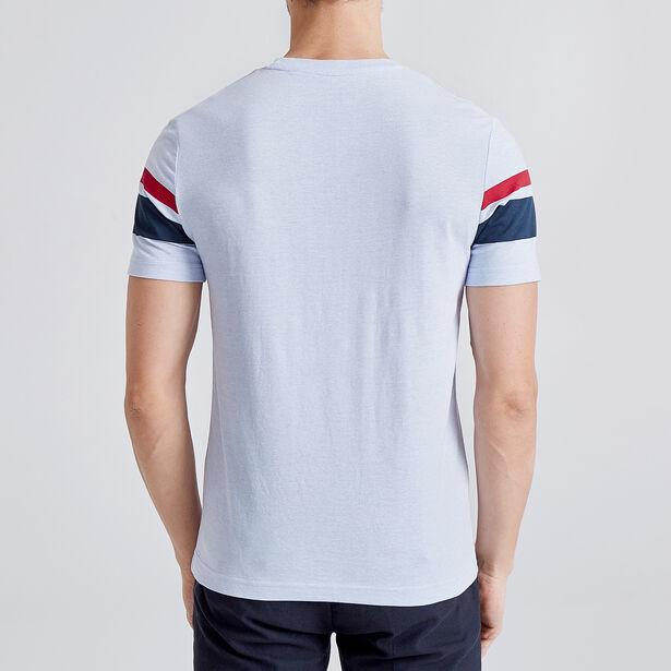 Tee shirt à bandes placées