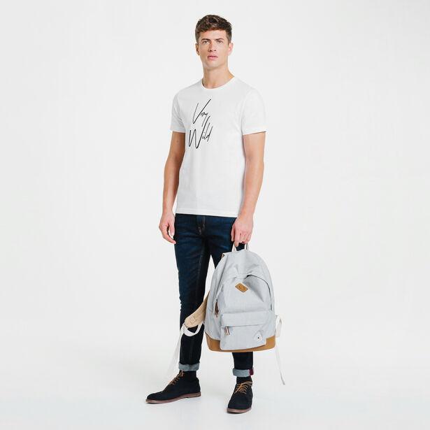 Tee-shirt blanc col rond Very Wild