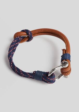 Armband in marinestijl, twee stoffen