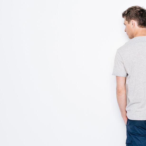 T-shirt col rond poche contrastée