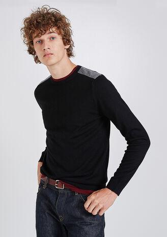 Pullover collo rotondo lana Merinos