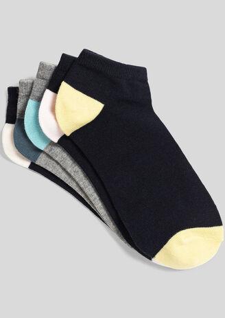 Lot de 5 paires de chaussettes basses homme