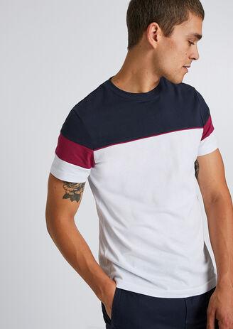Tee-shirt colorblock découpe manches