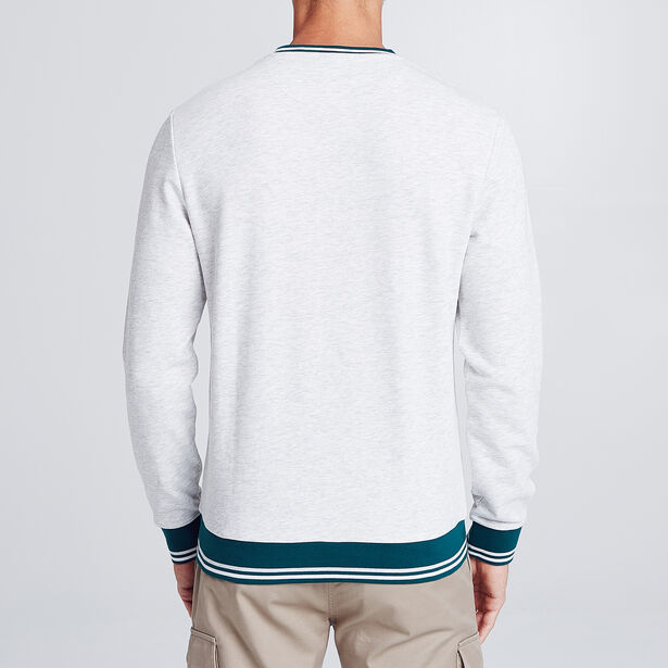 "Gemêleerde sweater met flockopdruk ""Player"""