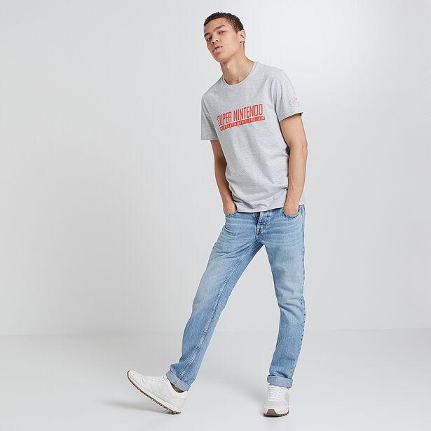Tee-shirt col rond imprimé logo Super Nintendo