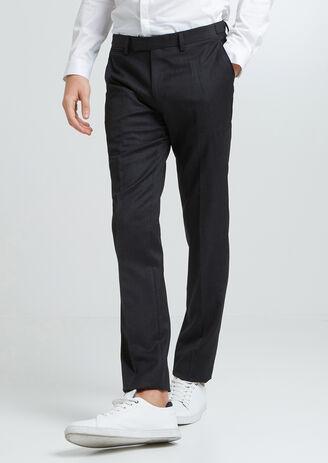 Pantalon de costume en laine haut de gamme