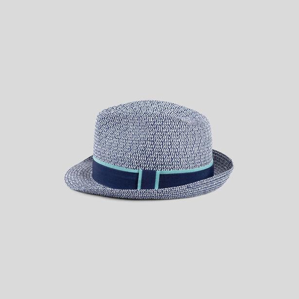 Chapeau bleu et blanc