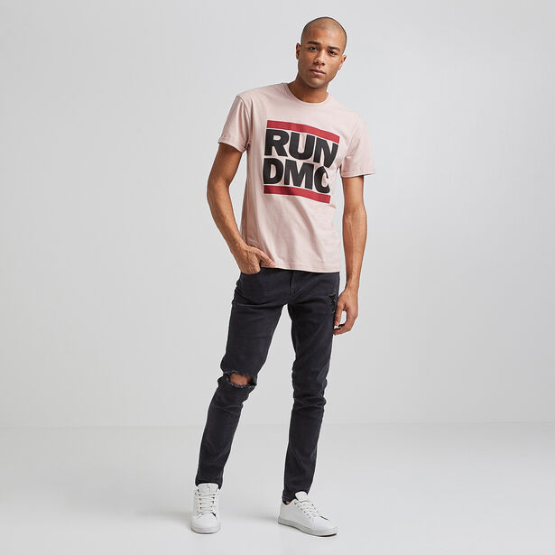 Tee shirt col rond imprimé RUN DMC