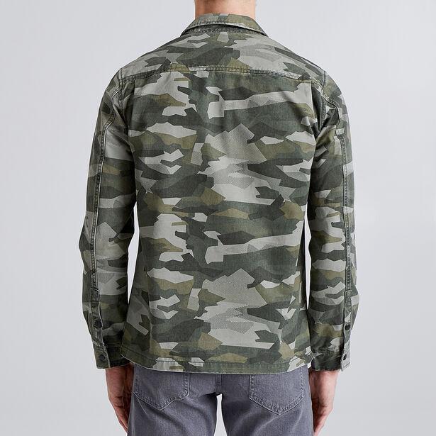 Overhemd met camouflagemotief