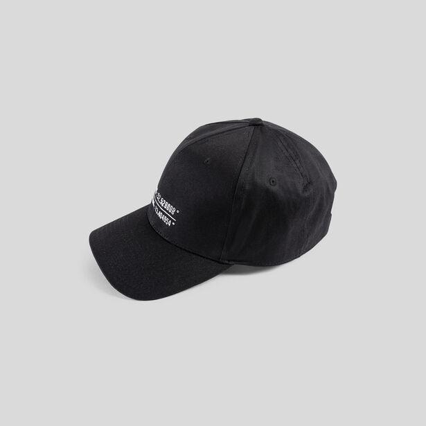 Casquette noire brodée