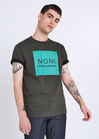 "Tee shirt col rond semainier ""Monday"""