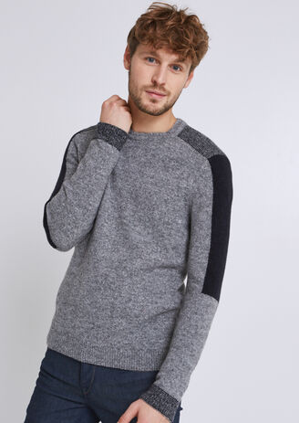 Pullover nuvola stile patchwork