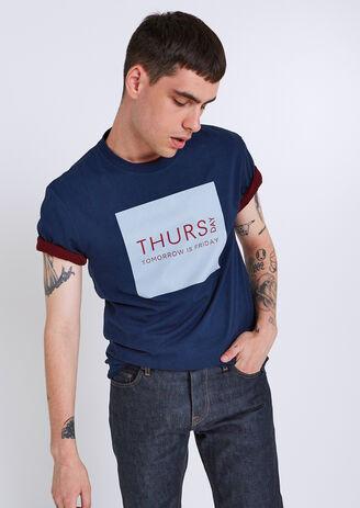 T-shirt collo rotondo giorni della settimana ¿Th