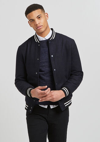 Blouson teddy en lainage