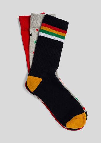 Set van 3 paar kleurrijke sokken