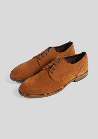 Chaussures en cuir suédé Marron Homme