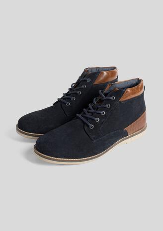 Chaussures montantes en cuir Marron Homme