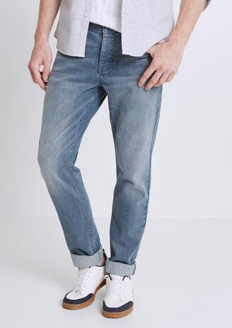Straight jeans, grijsblauw, 4L