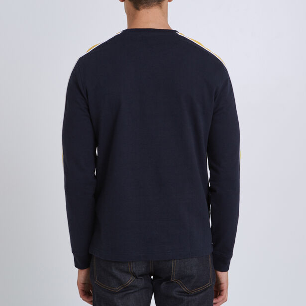 Tee shirt col rond manches longues à poche